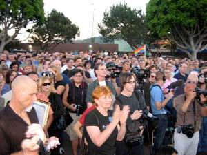 800-1000 people gathered in WeHo.  Where\'s Waldo?